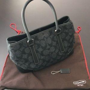 Coach flannel handbag